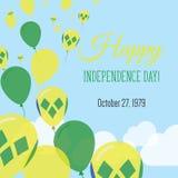 Dnia Niepodległości mieszkania kartka z pozdrowieniami Fotografia Royalty Free