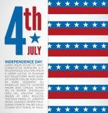 Dnia Niepodległości projekt Obrazy Royalty Free