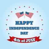 Dnia Niepodległości 4 th Lipiec szczęśliwa dzień niezależność Obraz Royalty Free