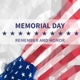 Dnia pamięci tło Pamięta I Honoruje Flaga amerykańska w tr Zdjęcie Royalty Free