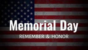 Dnia pamięci tło USA flaga na ciemnym tle royalty ilustracja