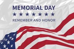 Dnia pamięci tło z flaga amerykańską w trójgraniastym stylu Obrazy Royalty Free