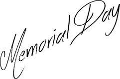 Dnia pamięci teksta znaka ilustracja Obraz Royalty Free