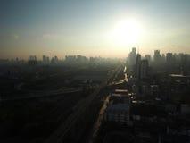 Dnia początek z jaśnieniem światło słoneczne w ranku Obraz Royalty Free