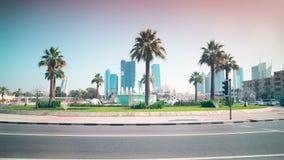 Dnia ruchu drogowego 4k czasu upływ od Dubai miasta zdjęcie wideo