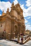 Dnia widok Colegiata kościół San Patricio Lorca Fotografia Stock