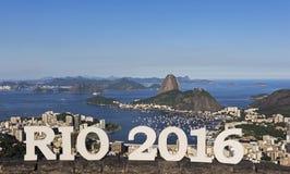 Dnia widok Cukrowego bochenka góra, Rio De Janeiro, Brazylia obrazy stock