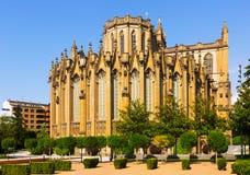 Dnia widok katedra Maryjny Niepokalany Vitoria-Gasteiz fotografia stock