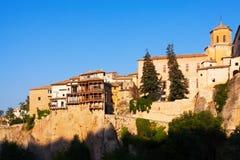 Dnia widok obwieszenie domy w Cuenca Obraz Royalty Free