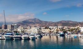 Dnia widok Puerto Marina Fotografia Royalty Free