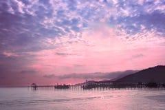 Dnieje na wybrzeżu wyspa Penang, Malezja Zdjęcia Stock