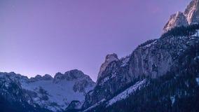 Dnieje przy halnym Dachstein, Austria, Górny Austria zdjęcia royalty free