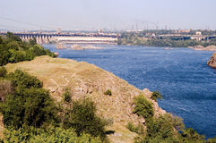 dnieper水力发电的岗位zaporizhia 库存图片