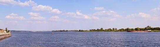 dnieper ποταμός πανοράματος Στοκ εικόνα με δικαίωμα ελεύθερης χρήσης