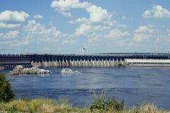 Dnieper水力发电的驻地 图库摄影