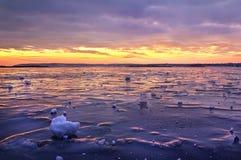 Dnieper congelato Immagine Stock Libera da Diritti