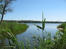 Dnieper-Fluss, das Heimatland Ukraine Stadt Dnipro stockfoto