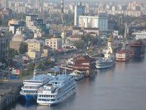 Dnieper-Fluss in Kiew Stockbild