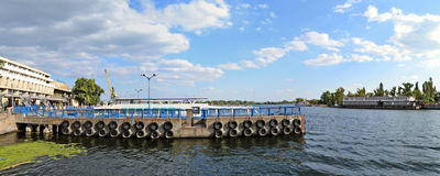 Dnieper harbor ships panorama Stock Photography