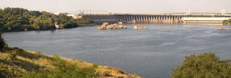 Dnieper Hydroelectric Station in Zaporizhia Stock Photography