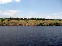 Dnepr River. Ukraine. The Dnieper is the largest river in Ukraine, within which its length is 981 km stock photography