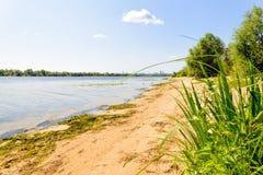 Dnieper River Beach Royalty Free Stock Photos