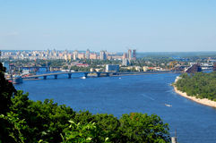 Dnieper River, Kiev Ukraine. The Dnieper River in Kiev the capitol of Ukraine Stock Photo
