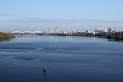 Dnieper river in Kiev Stock Image