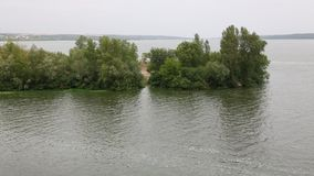 The Dnieper River near the village of Volosskoye in the Dnipropetrovsk Region stock video footage