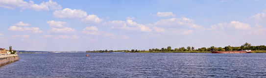 Dnieper river panorama Royalty Free Stock Image