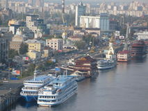 Dnieperrivier in Kiev Stock Afbeelding