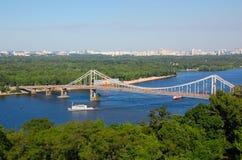 Dnieperrivier, Kiev de Oekraïne Royalty-vrije Stock Afbeelding