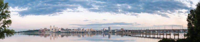 Dniepropetovsk Dnipropetrovsk, Dnepr, vista di Dnipro della città immagine stock