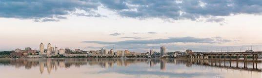 Dniepropetovsk Dnipropetrovsk, Dnepr, vista di Dnipro della città fotografie stock libere da diritti