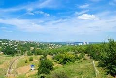 Dniepropetovsk ed i sui sobborghi fotografia stock