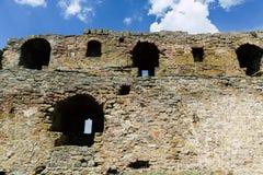 Dniester forteca Ackermann Fotografie ?ciany i g?ruj? fortyfikacje Forteca w wio?nie zdjęcie stock