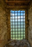 Dniester forteca ochraniał silnymi kratownicami Obraz Royalty Free