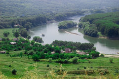 Dniester river landscape Royalty Free Stock Images