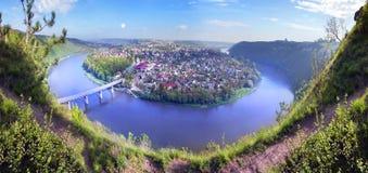 Dniestr meanders Royalty Free Stock Photo