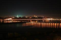 Dniper en la noche Foto de archivo