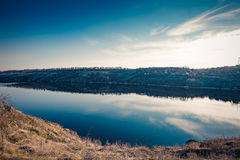 2 Dnipro河海滩 免版税库存图片