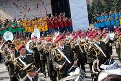 Dnipro,第聂伯罗彼得罗夫斯克地区/乌克兰09 08 2018年 库存图片