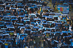 Dnipro fans Royalty Free Stock Photo