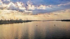 Dnipro flod Fotografering för Bildbyråer