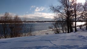 Dnipro flod i morgonen arkivfoto