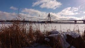 Dnipro-Fluss morgens Stockbild