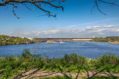 DNIPRO HYDROELECTRIC STATION Royalty Free Stock Photo