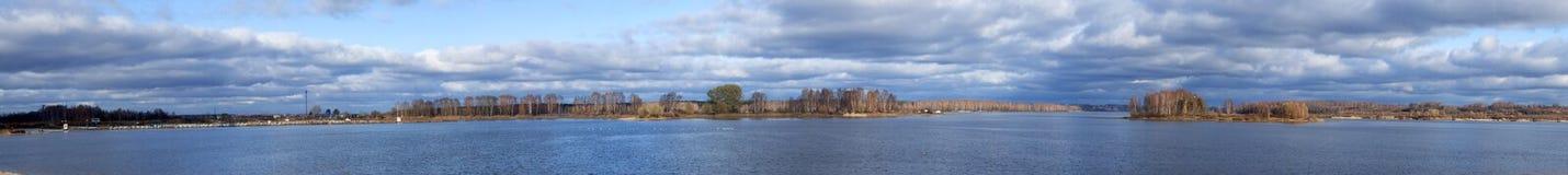 dnipro kyiv panoramy regionu rzeka Ukraine Obrazy Stock