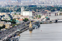 Dnipro panoramic view. Kiev royalty free stock image
