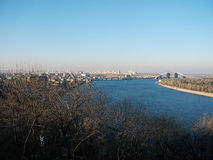 Dnipro River and city of Kiev. Royalty Free Stock Photography